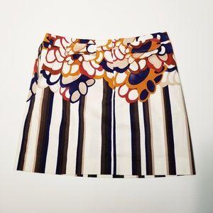 Etcetera Multi Patterned Striped Skirt